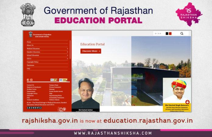राजस्थान शिक्षा विभाग का पोर्टल rajshiksha.gov.in अब education.rajasthan.gov.in पर स्थानांतरित हो गया है   rajshiksha.gov.in is now shifted to education.rajasthan.gov.in