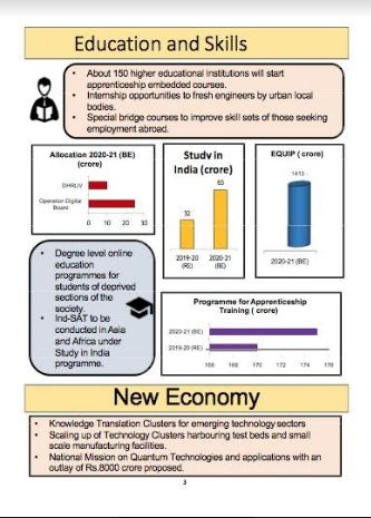 education budget 2020-21 infographic